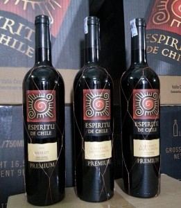 Rượu vang Chile mặt trời Espiritu De Chile